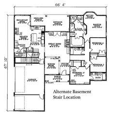 European Style House Plan - 4 Beds 3.00 Baths 2405 Sq/Ft Plan #17-2060 Floor Plan - Other Floor Plan - Houseplans.com