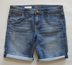 Kut From The Kloth Jeans 6 Catherine Boyfriend Shorts Distressed ...