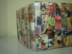 Como hacer una cartera reciclada