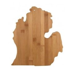 Totally Bamboo Cutting and Serving Board, Michigan Mitten State Wood NEW
