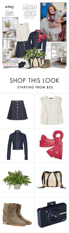 """Animals Share With Us The Privilege Of Having A Soul"" by thewondersoffashion ❤ liked on Polyvore featuring AG Adriano Goldschmied, Violeta by Mango, T By Alexander Wang, Tory Burch, See by Chloé, Isabel Marant and Polaroid"