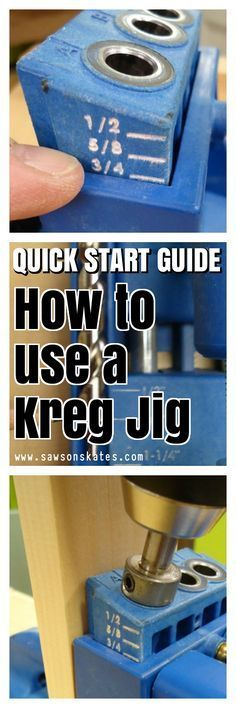 Pin this to your DIY board! Quick Start Guide - Kreg Jig: What does it do? How to set it up? How to make pocket holes? All those questions answered here!