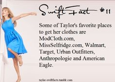 I love how she shops at stores that don't sell designer clothes for thousands of dollars. She acts like a normal person and not a millionaire. Love her! All About Taylor Swift, Taylor Swift Facts, Live Taylor, Taylor Swift Quotes, Red Taylor, Taylor Swift Pictures, Taylor Alison Swift, A Guy Like You, That Way