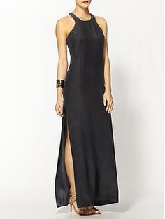 Amanda Uprichard Silk Slit Maxi Dress | Piperlime  classic