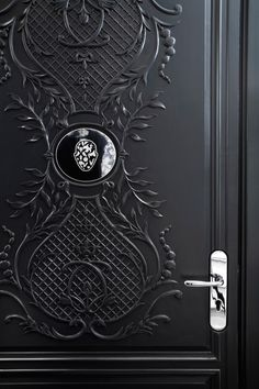 Beautiful Door details by Marcel Wanders for a private residence