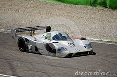 Classic Group C Sports Prototype racing at Monza Circuit in occasion of the 2015 Intereuropean historic cup event. This car was driven by Micheal Schumacher and Mauro Baldi in the 1990 World Sportscar Championship.