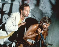 Charlton Heston and James Franciscus in Beneath the Planet of the Apes (1970)