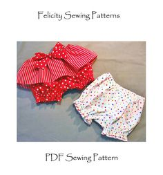 Baby sewing pattern, Fancy Pants Bloomers for baby and toddlers, baby diaper cover pattern with skirt frill, sizes 3 mths to 6 yrs