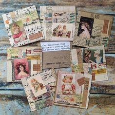 Atc Cards, Journal Cards, Junk Journal, Bullet Journal, Scrapbook Cards, Scrapbooking, Collage Book, Mail Ideas, Rolodex