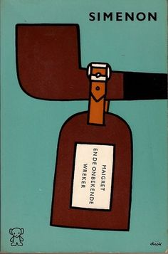 Maigret and the Unknown Revenger, cover, Dick Bruna, 1966.