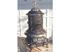 Small atlanta wood and coal antique potbelly stove for Furniture east wenatchee