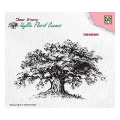 Tampon clear transparent scrapbooking Nellie Snellen ARBRE BRANCHE FEUILLE 036 Tampons Transparents, Scrapbooking, Clear Stamps, Floral, Relief, Crayon, Mini, Products, Emboss