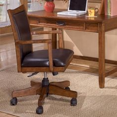 Ashley Furniture Cross Island Swivel Desk Chair With Adjustable Height Add Functionality To Your Office