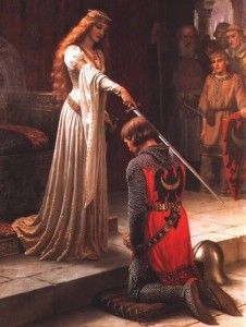 Guinevere knighting Lancelot. Follow the link attached to this image and read my review of Chretien de Troyes' 'The Knight of the Cart'. Be sure to 'like', share and leave a comment.