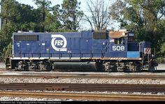 RailPictures.Net Photo: FEC 508 Florida East Coast Railroad (FEC) EMD GP38-2 at Jacksonville, Florida by Bob Pickering - www.flrails.com