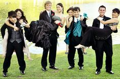 Pose for prom. I would totally be the girl on the left
