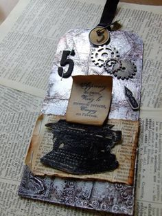Challenge September tag Tim Holtz by dragonflyso - Cards and Paper Crafts at Splitcoaststampers
