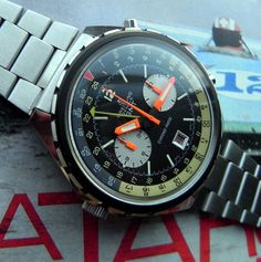 Very Rare 2115 Breitling Automatic GMT Huge Chronograph Mens Watch