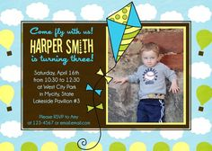 kite party invitation