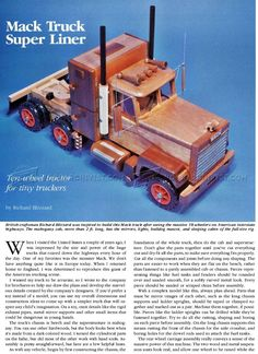 Wooden Truck Plans - Wooden Toy Plans