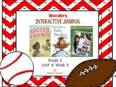 This second grade interactive journal is aligned to Common Core and to the McGraw Hill Wonders series for Unit 5-Week 2. These journal entries allow students to be engaged while reading the text.  These can easily be folded to fit in the students composition books or journals.