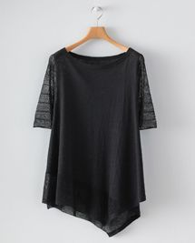 Product Image of Lace stitch detail linen sweater