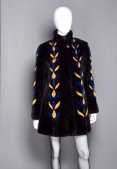 "Zuki Sheared Beaver Fur ""Vine"" Coat"