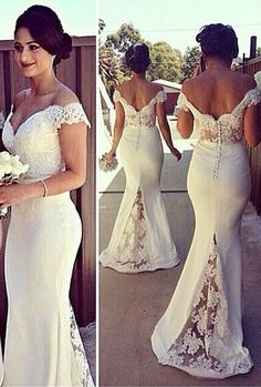 off shoulder mermaid wedding dress - Google Search