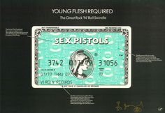 Jamie Reid, Sex Pistols, Young Flesh Required, 1979 ; Courtesy of Steven Kasher Gallery, New York