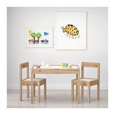 Für Ihr Kinderzimmer ;-) LÄTT Kindertisch mit 2 Stühlen - - - IKEA Dazu süße Stuhlkissen nähen!!