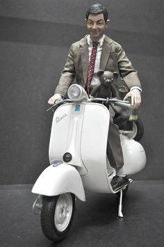 Toys: Mister Bean ready to leave in Vespa (photo by VespaBoy1)