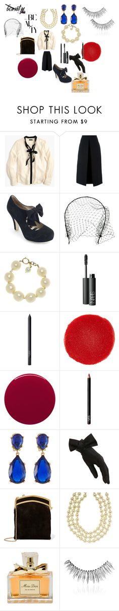 """""""after hours cocktails on the French Riviera"""" by alisafranklin on Polyvore featuring beauty, J.Crew, McQ by Alexander McQueen, Lola Ramona, Jennifer Behr, Chanel, NARS Cosmetics, Christian Louboutin, Smith & Cult and Kenneth Jay Lane"""