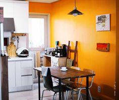 마니아 컬럼(리빙) > 엘로우 오렌지빛으로 물든 주방 셀프인테리어