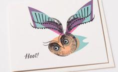 Hoot! | Red Cap Cards #hoot #owl #illustration