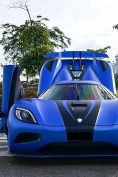 Visit The MACHINE Shop Café... ❤ The Best of Koenigsegg... ❤ (Koenigsegg Agera Matte Blue)