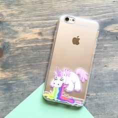 Clear TPU Case Cover - Puking Unicorn – Milkyway