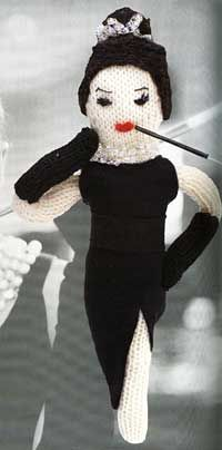 Knit an Audrey Hepburn doll: The doll is kind of creepy but I'm still fascinated (LOL!)