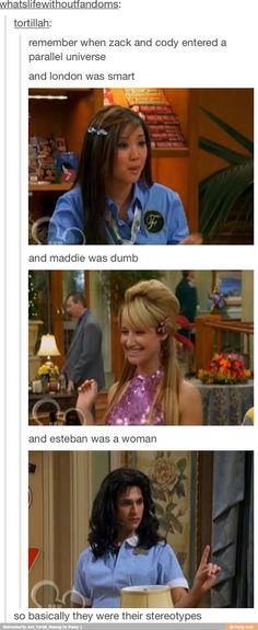I never thought about it that way << And Erwin was manager and Mr. Moseby was was the repair guy