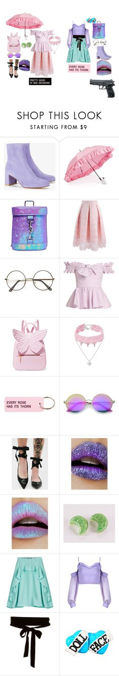 """The Candi Twins"" by cloverkindel ❤ liked on Polyvore featuring Maryam Nassir Zadeh, Gizelle Renee, Sugar Thrillz, Chicwish, Caroline Constas, Sophia Webster, Design Lab, Various Projects, ZeroUV and Killstar"