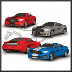 2015 Ford Mustang GT Paper Car Free Vehicle Paper Model Download - http://www.papercraftsquare.com/2015-ford-mustang-gt-paper-car-free-vehicle-paper-model-download.html