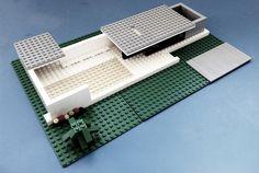 LEGO ARCHITECTURE: BARCELONA PAVILLION 1929. MIES VAN DER ROHE.  yololos.blogspot.com Barcelona Pavilion, Lego Architecture, Modernism, Legos, Attitude, Hama, Architecture, Art, Playmobil