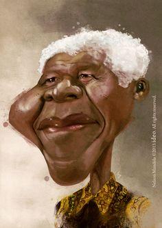 Nelson Mandela Cariicature #nelsonmandela