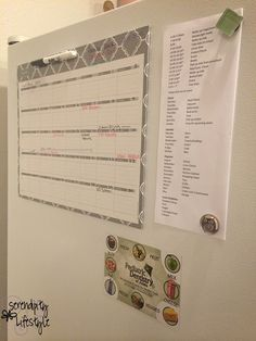 School and household chore timeline