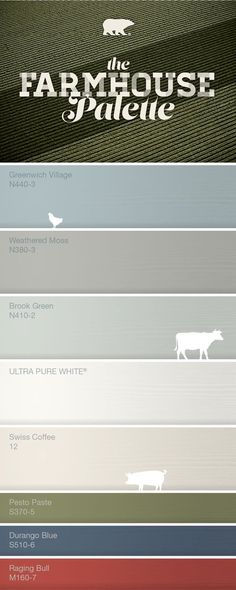 About Farmhouse Farmhouse color palette-Greenwich Village for downstairs bedrrom and weathered moss for the bathroom.Farmhouse color palette-Greenwich Village for downstairs bedrrom and weathered moss for the bathroom.
