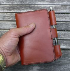 Field Notes Leather Cover Notebook Journal Wallet by garnydesigns