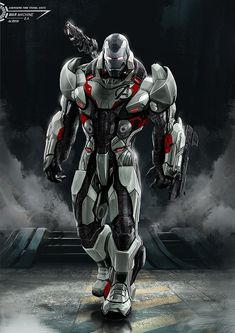 Avengers : Endgame / War Machine with Time Travel Suit, Aleksi Briclot Marvel Art, Marvel Heroes, Marvel Characters, Marvel Comics, Iron Man Pictures, Iron Man Photos, Iron Man Hd Wallpaper, Avengers Wallpaper, Wallpaper Awesome