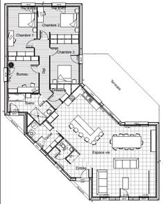 1000 id es sur le th me maison plain pied sur pinterest for Plan maison 110m2 plain pied