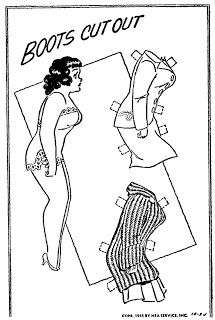 October 24, 1943. - Babe is Boots best friend in the newspaper comic series. Chubby, plus-sized adult female paperdoll. - Mostly Paper Dolls Too!