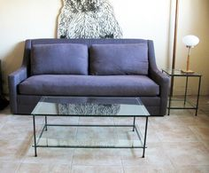 Chesterfield Sofa Gold Williams luxurious GOOSE DOWN Sofa Dark Violet Linen via Flickr