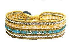 Crystal & Gold 2 cm Cuff/Bracelet